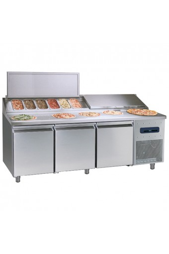 Banco pizza refrigerato con 3 porte - SHOWROOM