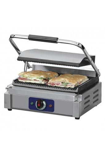 Grill a contatto media panini - piastra in ghisa - rigato/rigato
