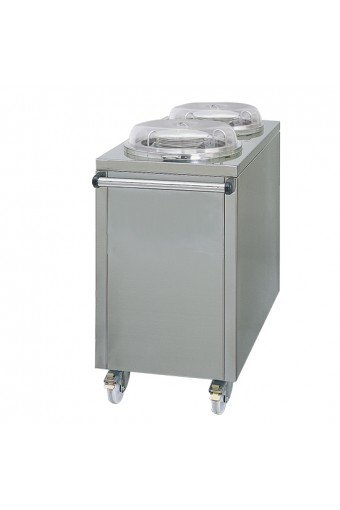 Sollevatore piatti caldo su ruote per 2x 50 piatti da Ø260-320 mm