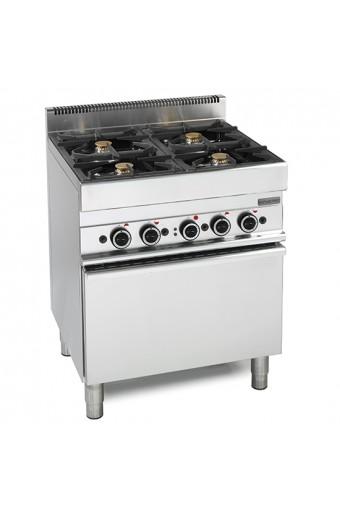 Cucina a gas 4 fuochi con forno elettrico a convezione