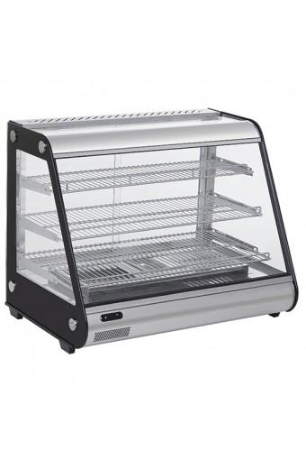 Espositore caldo,vetri scorrevoli lato servizio cap.160 lt. bacinella estraibile umidificazione aria