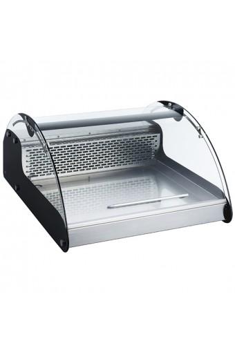 Vetrina refrigerata da banco con vetro curvo, L=700