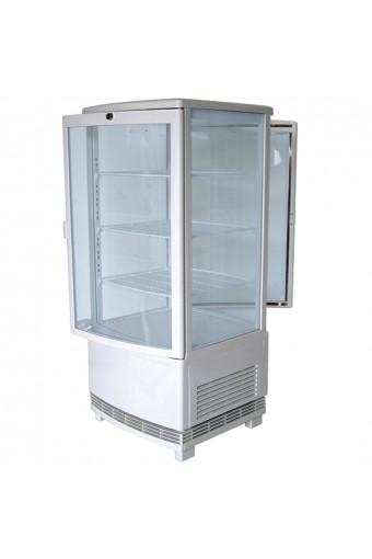 Vetrina refrigerata 3 ripiani, 86 litri, colore bianco porte battenti passanti su du lati