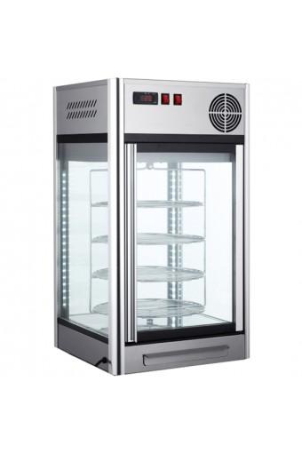 Vetrina refrigerata da banco con ripiani girevoli, cap. 108 lt.