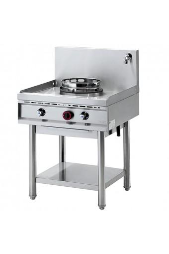 Cucina cinese wok a gas con sistema di lavaggio1 fuoco da 13 kw