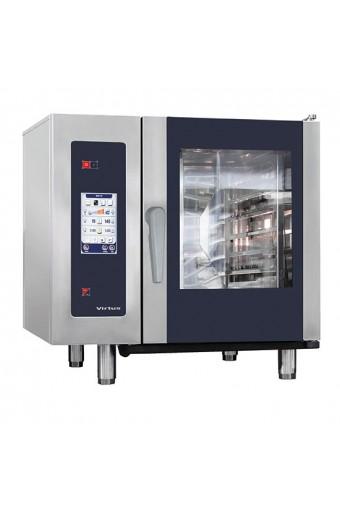 Forno combinato vapore gas trivalente 6 teglie gn 1/ 1 touch control, boiler,lavaggio automatico