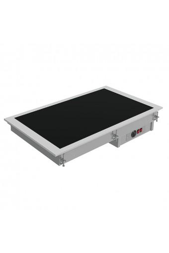 Piano riscaldante vetroceramica a incasso 2x gn1/1
