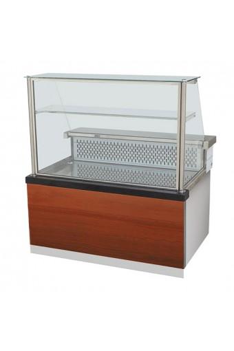 Espositore refrigerato statico con ripiano e vetro retto, +0°/+2°C, l=1000 mm