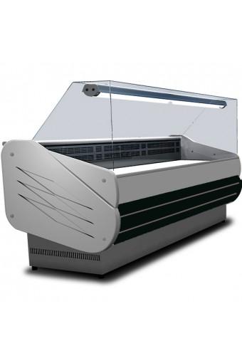 Banco refrigerato ventilato da 2000 mm con vetro retto, +3°/+5°C