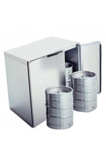 Refrigeratore fusti birra 4x 50 litri in acciaio inox, senza gruppo