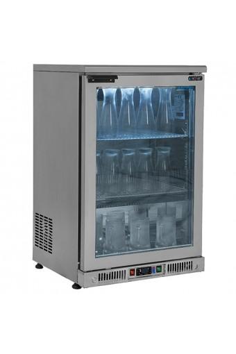 Frigo congelatore ventilato per bottiglie,porta in vetro cap. 150 litri, temp. -18°C/-20°C