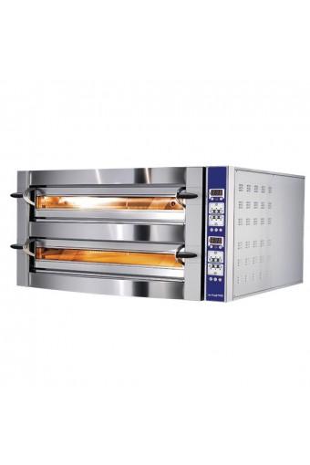 Forno pizza elettrico da 6+6 pizze ø 35 cm, controllo digitale