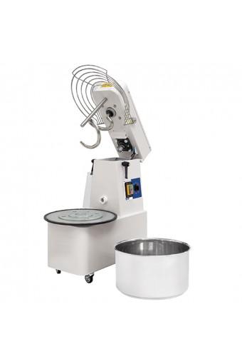 Impastatrice a spirale, 48 litri, controllo meccanico con timer e vasca estraibile