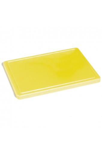 Tagliere per pollame con canalina, 500x300 mm