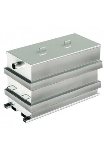 Separatore di grasso per uso stazionario DIN EN1825-1, capacità 482 litri