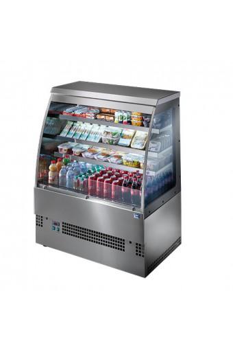 Espositore refrigerato con 3 ripiani, +3°/+5°C, l=1500 mm - Self Service in acciaio inox
