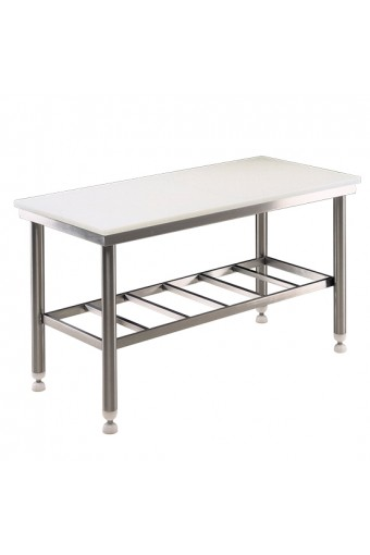 Tavolo di lavoro, piano in polietilene, 1500x700mm