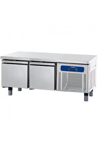Base refrigerata con 2 cassetti gn 1/1 per apparecchiature di cottura, larghezza=1200 mm