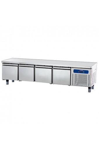 Base refrigerata con 4 cassetti gn 1/1 per apparecchiature di cottura