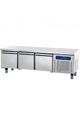 Base freezer con 3 cassetti gn 1/1 per apparecchiature di cottura