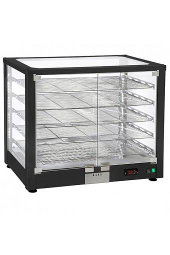 Vetrinetta calda da banco a 2 livelli con porte scorrevoli, +20°/+90°C