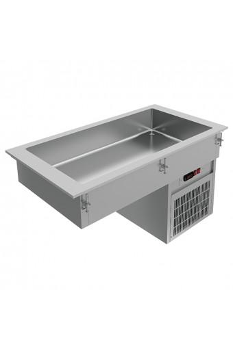 Vasca refrigerata statica ad incasso, 5x gn 1/1
