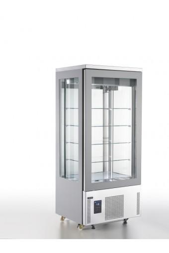 Vetrina refrigerata verticale ventilata con 5 ripiani quadrati in vetro, +14°/+16°C