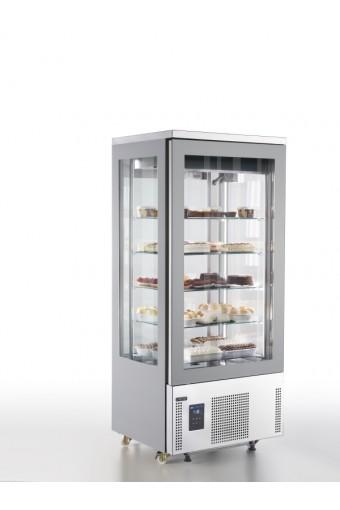 Vetrina refrigerata verticale ventilata con 5 ripiani quadrati in vetro, -15°/-25°C