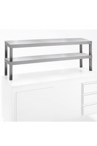 Mensola, sovrastruttura doppia, fianchi chiusi, 1400x300 mm