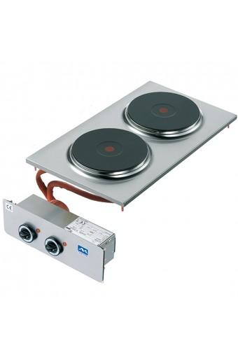 Piano di cottura elettrico ad incasso, 2 piastre