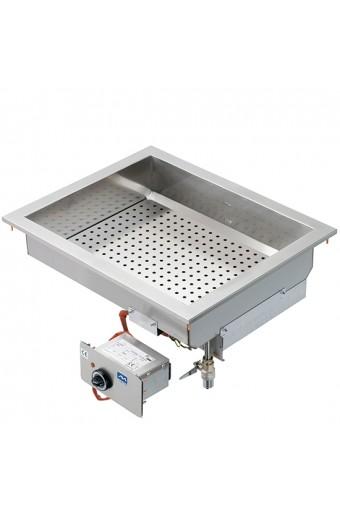 Bagnomaria elettrico ad incasso, 1 vasca gn h=150 mm