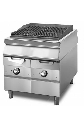 Acqua grill elettrico, zona di cottura in ghisa, carne/pesce