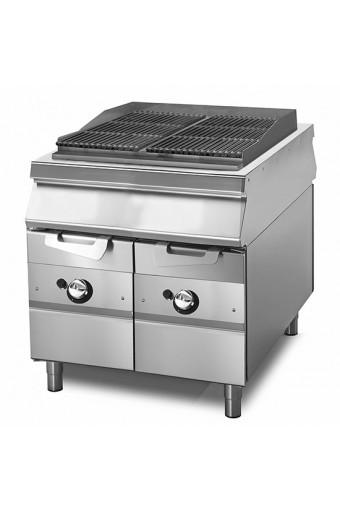 Acqua grill gas, zona di cottura in ghisa, carne/pesce