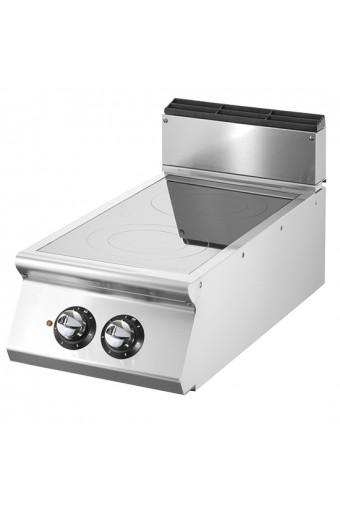 Cucina induzione da banco, 2 zone di cottura Ø 220 mm ciascuna 3,5 kW