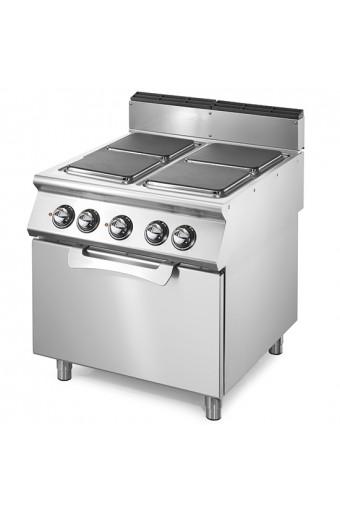 Cucina elettrica 4 piastre quadre con forno elet. statico