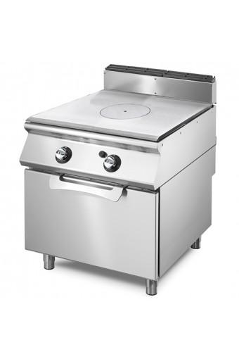 Cucina tutta piastra gas con forno a gas statico