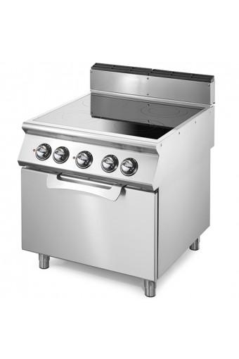 Cucina elettrica 4 piastre con forno elet. statico