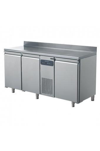 Tavolo freezer a 3 porte GN 1/1, con alzatina, -10°C -22°C°