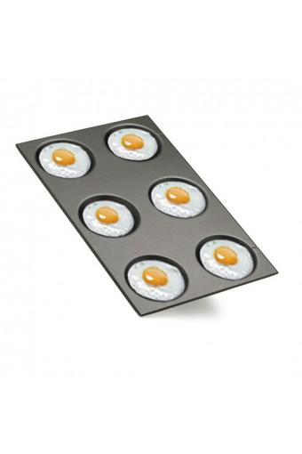 Teglia in alluminio smaltata per uova fritte, omelettes e crêpes, gn 1/1