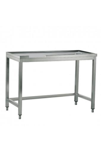 Tavolo di cernita sinistro con foro, per macchine con uscita a destra, larghezza=1800 mm
