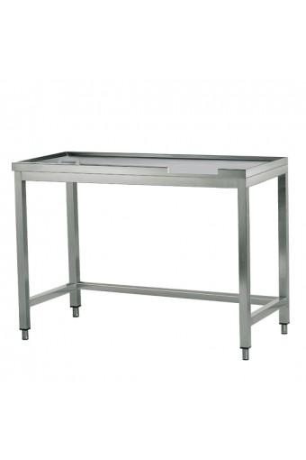 Tavolo di cernita destro con foro, per macchine con uscita a sinistra, larghezza=2400 mm