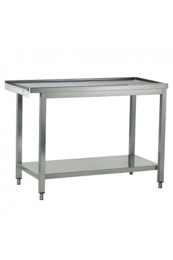 Tavolo ingresso o uscita per lavastoviglie a capot, larghezza=1000 mm